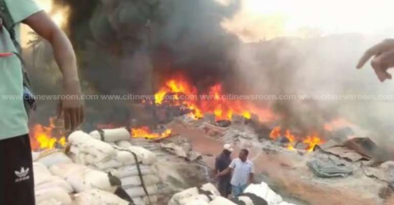 Fire Causes Havoc At Techiman Central Market