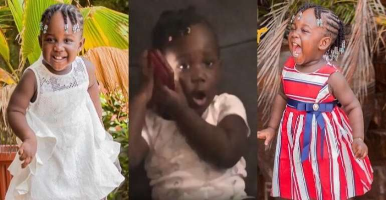 Stonebwoy's daughter Jidula follows her father's footsteps as she shows off her beautiful voice by singing for her grandma
