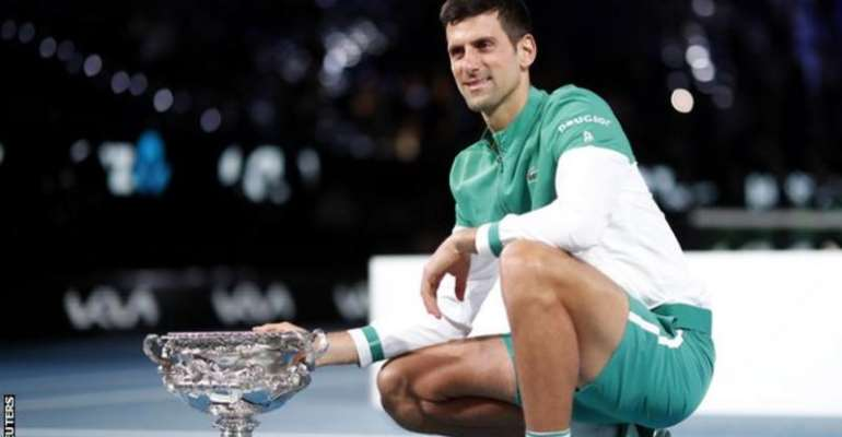 Djokovic defeated Daniil Medvedev in straight sets in the Australian Open final