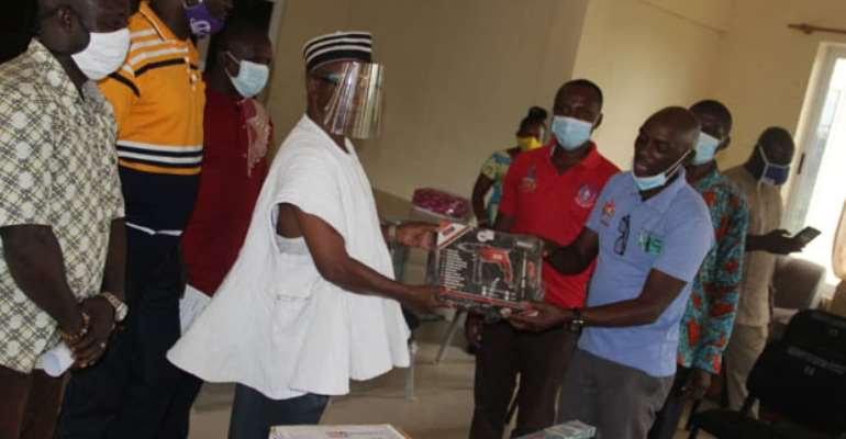 Handing Over Tools And Equipment At Sandema Senior