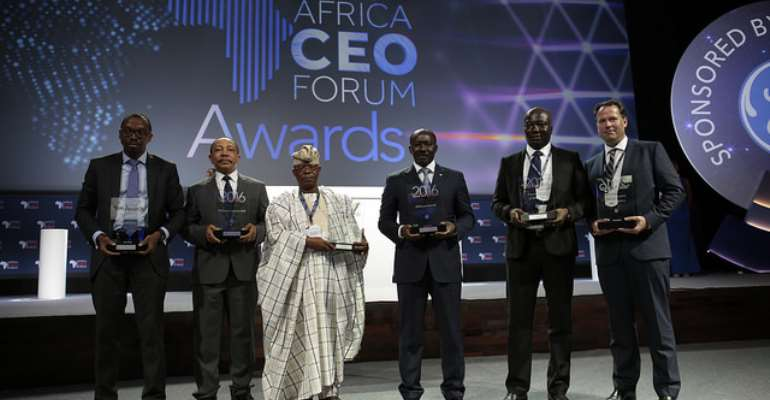 The Winners of  the AFRICA CEO FORUM AWARDS 2016  Credits Jacques Torregano