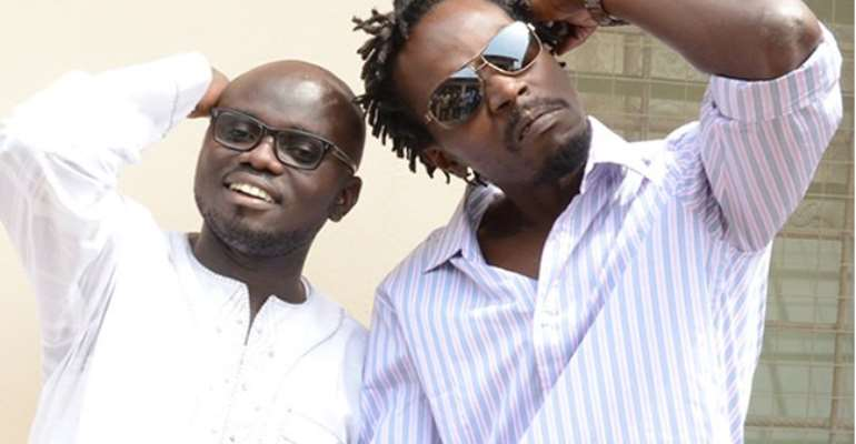Kwaw Kese and his fallen manager Fennec Okyere | Adomonline.com