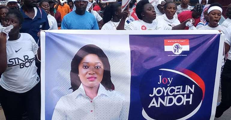 NPP Primaries: Tarkwa Goes 'Gaga' For Joycelyn Qualification
