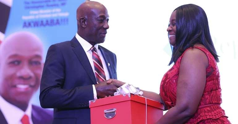 Republic Bank Honors Trinidad& Tobago Prime Minister In Ghana