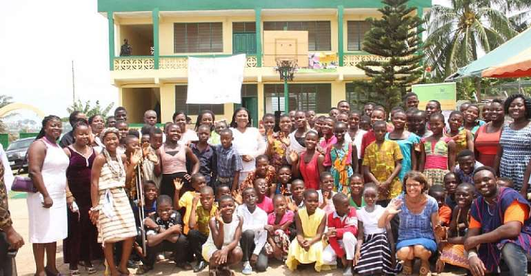 Rebecca Akufo-Addo with the children and management of the home