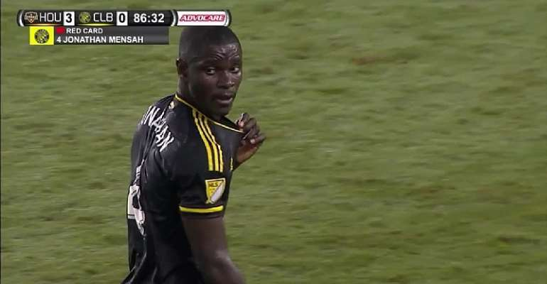 MLS side Columus Crew decides not to appeal Jonathan Mensah's red card