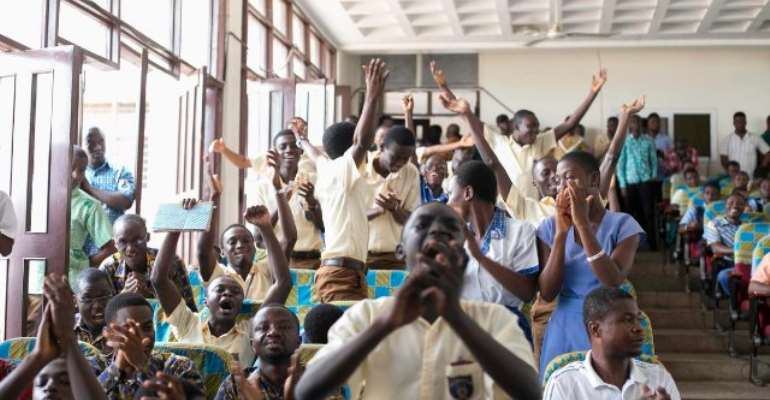 Kumasi Academy students couldn't hide their joy.