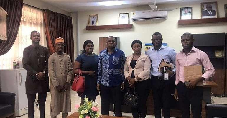 Nigerian Students Call On Dr. Kingsley Nyarko