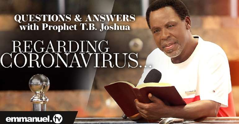 "TB Joshua Prays And Declares That The ""Real Coronavirus Is Gone"""
