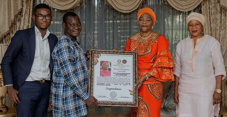 Mrs. Aliu Mahama Receives NExA Noble Of Charity In Humanitarian Service Award