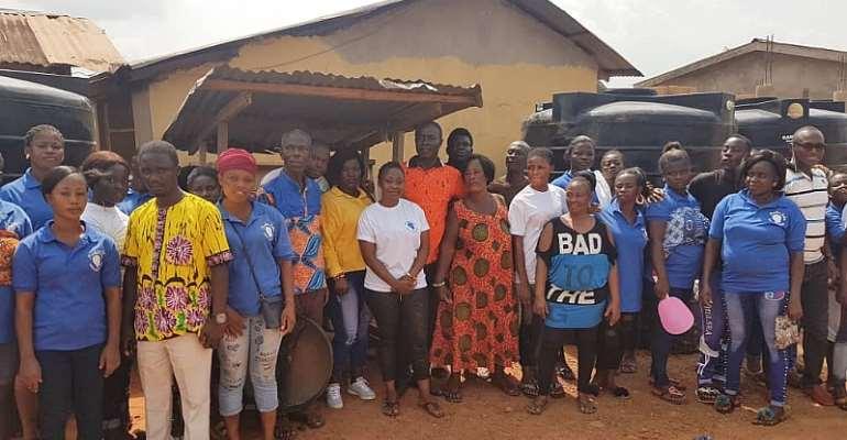 Barbara Oteng-Gyasi Donates Rambo 500 Poly Tanks To Bompieso Community
