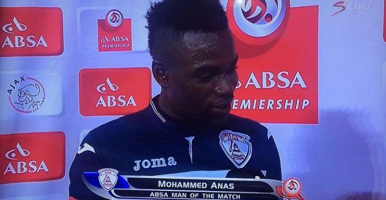 Mohammed Anas bags brace as Free State Stars draw at Ajax Cape Town; striker named Man of the Match