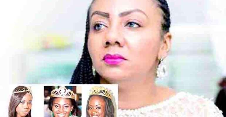 Inna Patty. INSET: Ex Miss Ghana Queens