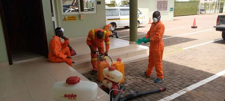 JOSPONG Group Disinfect All Its Offices, Determined To Help Government Fight COVID-19