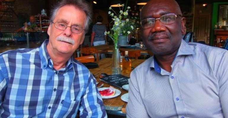 Scientist Johan Van Dongen and Joel Savage