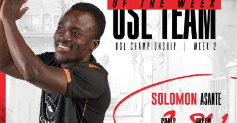 Solomon Asante Named In USL Team Of The Week