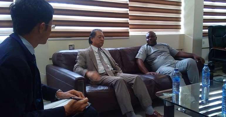 Minister Of Sports, GOC President, OtherDignitariesMeet Japanese Ambassador Ahead Of Tokyo 2020