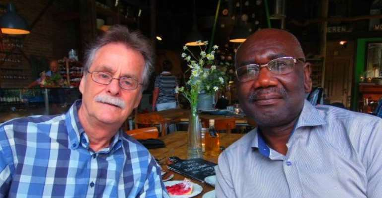 Scientist Johan Van Dongen and the Ghanaian-Belgian writer, Joel Savage