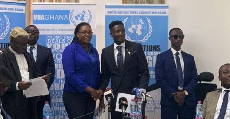 Asamoah Gyan appointed Ambassador for United Nations Youth Association