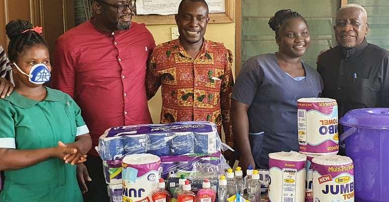 NPP Aspiring MP Donates Health Items Worth gh¢2,700 to Three Health Centers.