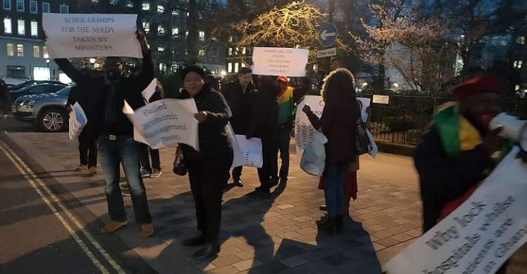 Protest Greets Akufo-Addo's London Visit