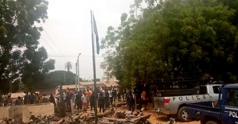 Sogakope: Residents Storm Police Station