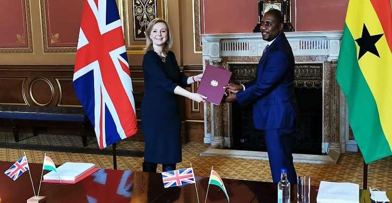 Ghana, Northern Ireland UK sign interim trade deal