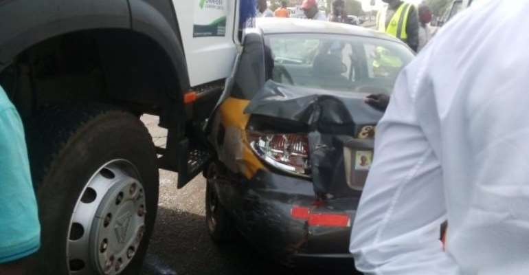 Four vehicles involved in accident at Tema