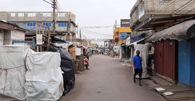 Accra Markets Closed For Coronavirus Spraying Exercise [Photos]