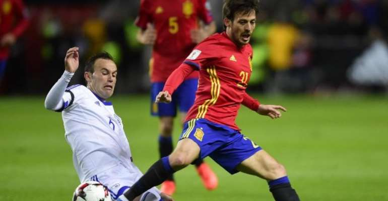 Diego Costa and David Silva net as Spain cruise past Israel