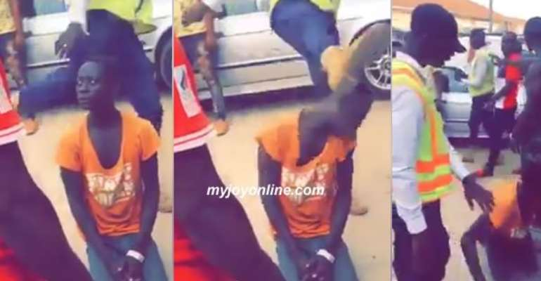 A video has gone viral showing a young man brutally assaulted by a city guard.