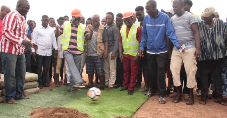 Construction Of Hohoe Sports Stadium Takes Off