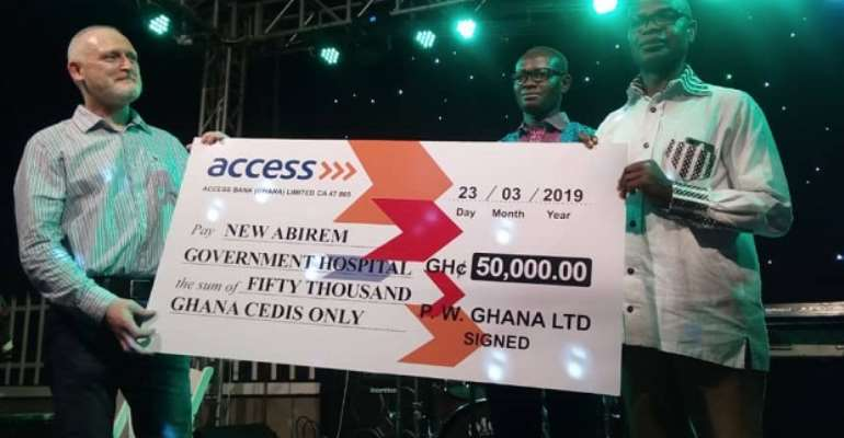 Irish Mining Company PW Donates Ghc 50k To New Abirem Gov't Hospital