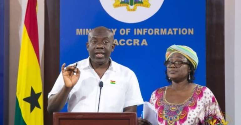 Information Minister, Kojo Oppong Nkrumah with NRSC boss May Obiri-Yeboah