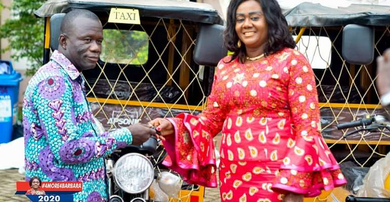 Barbara Oteng-Gyasi Present Tricycles To Farmers and Youth Associations