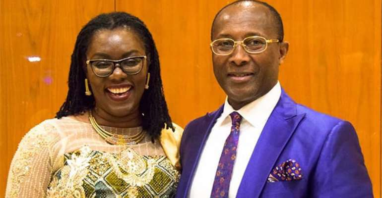 Ursula Owusu-Ekuful with her husband Sam Ekuful