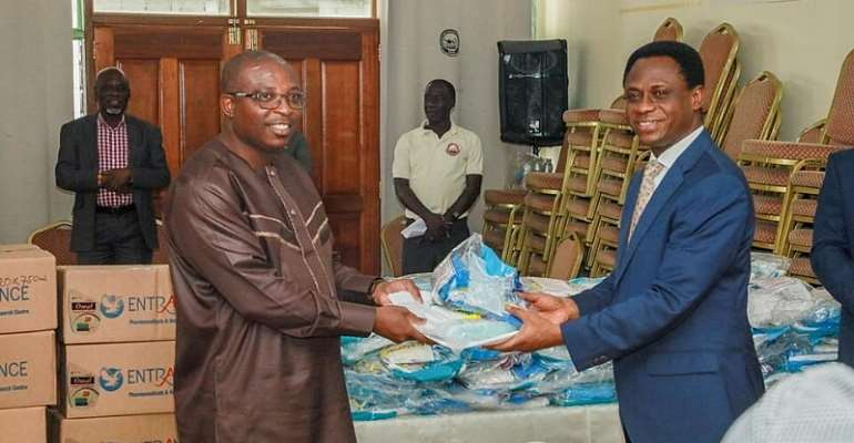 COVID-19: Pentecost Church Donate PPEs To Health Ministry