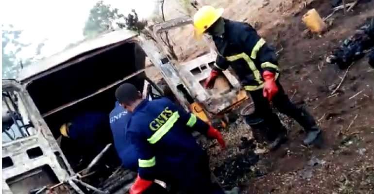 Kintampo Crash: Mass Burial For 25 Unclaimed Bodies