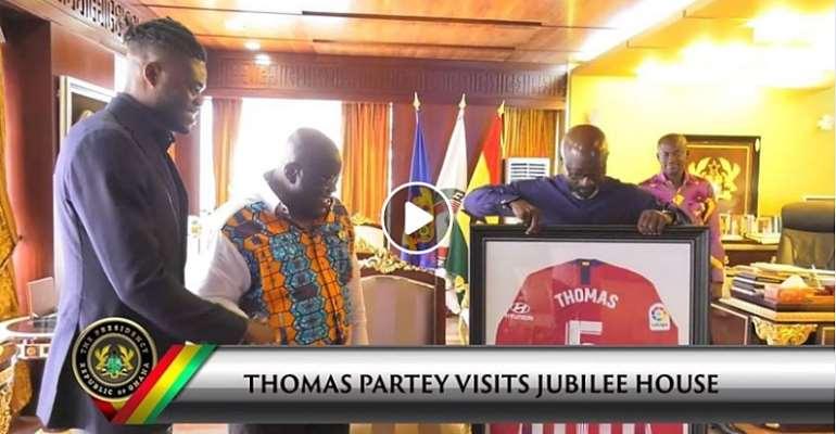 Thomas Partey Visits Prez. Akufo-Addo At Jubilee House [VIDEO]