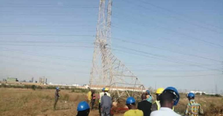 The pylon was hacked down at dawn on Monday