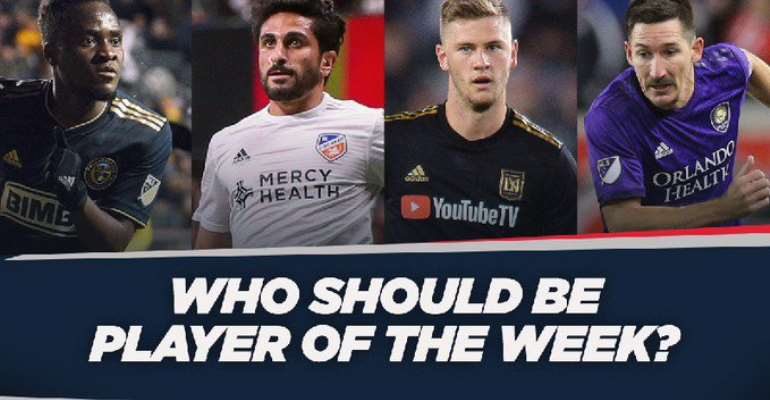 David Accam Shortlisted For MLS Player Of The Week