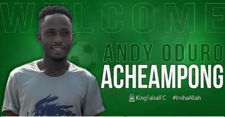King Faisal Wrap Up Signing Of Attacker Andy Oduro