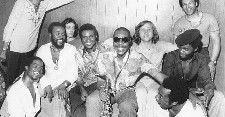Manu Dibango (centre) - Source: Michael Ochs Archives/Getty Images