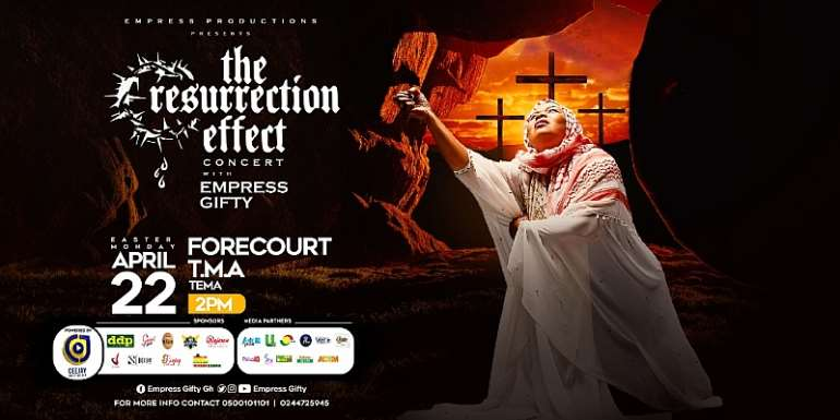 empress gifty lines up brother sammy, s.p. kofi sarpong others for resurrection effectconcert