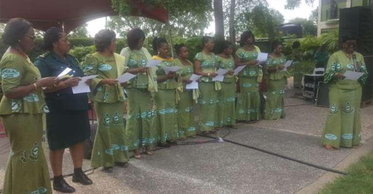 Judith Djokoto-Lomoh inducting the Tema IMMILAC members into office