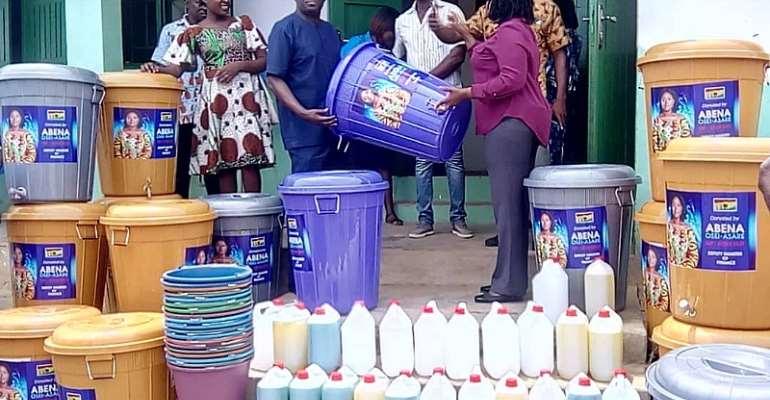 Coronavirus: Atiwa-East MP Gives Hand Washing Items To 12 CHPS Compounds, 3 Health Centres