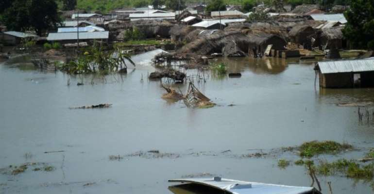 A Flooded Village In Ghana