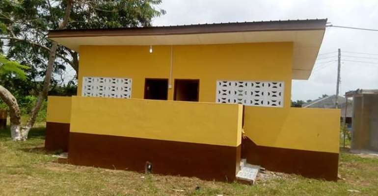 Jomoro Municipal Assembly Commissions 6-Seater WC Facility To Ehoaka Basic School