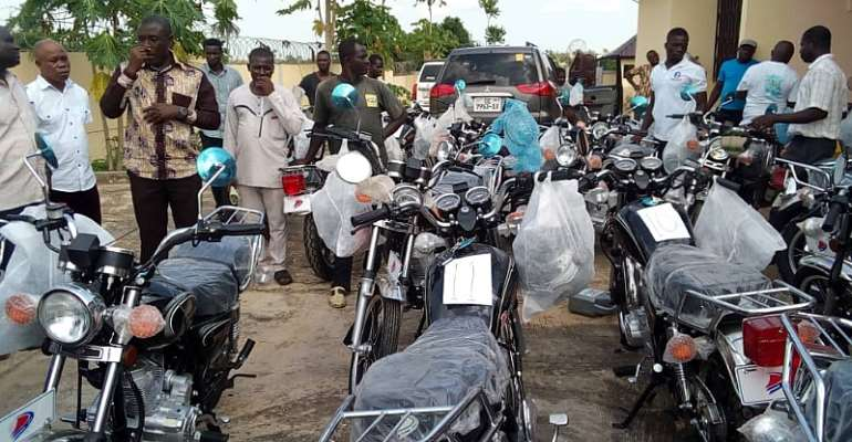 Gomoa Central Hands Over Motorbikes To Assembly Members To Facilitate Their Activities