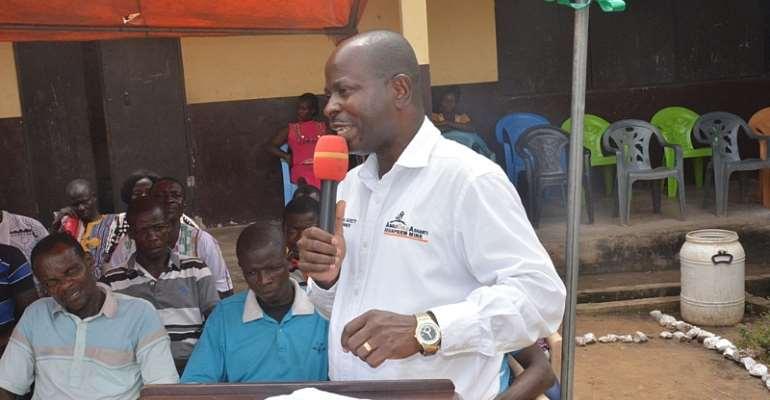Snr. Manager, Mining, Mr Stephen   Asante Yamoah, addressing the gathering